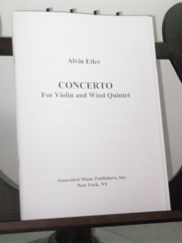 Etler A - Concerto for Violin and Wind Quintet